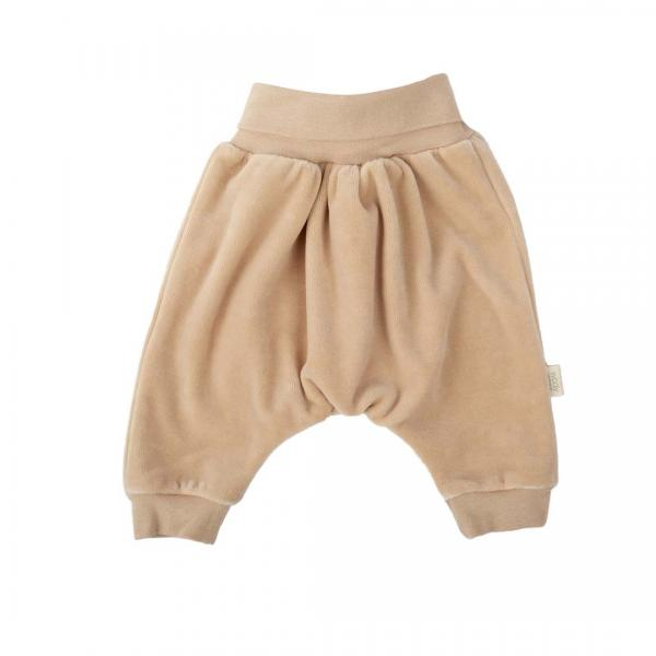 Wooly Organic Baby Velour Pants- Brown color