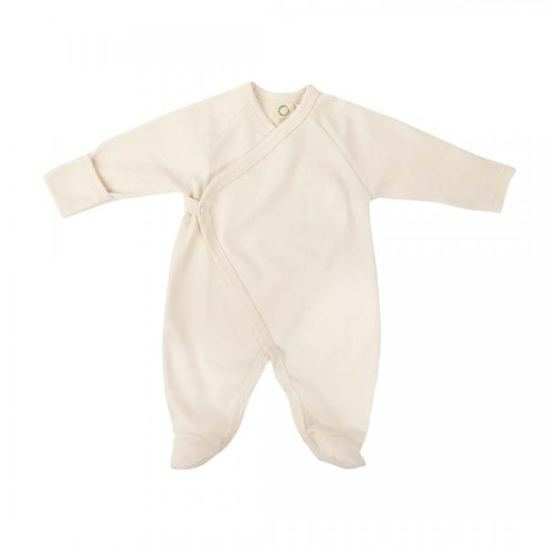 Wooly Organic Sleepsuit-Ecru Color with Foot