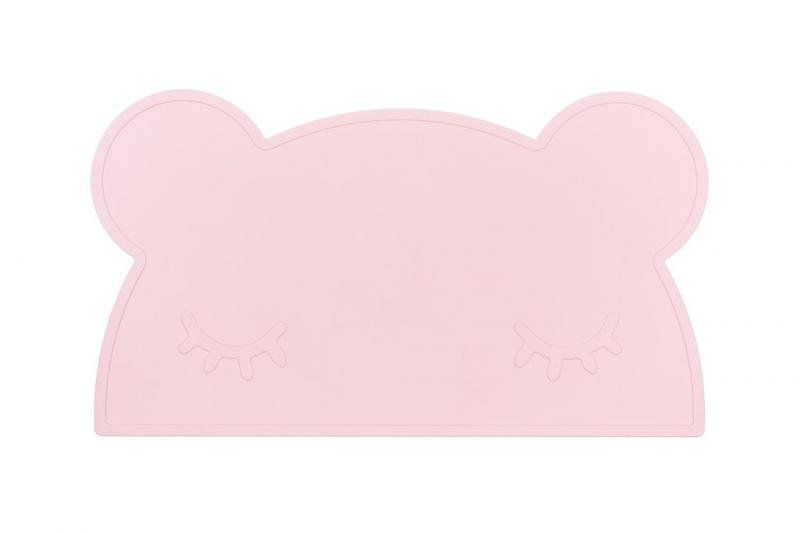 We Might Be Tiny Placemat Bear-Powder Pink