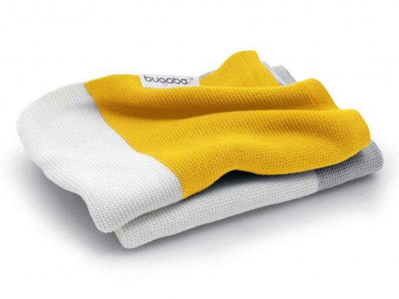 Bugaboo Light Cotton Blanket-BRIGHT YELLOW MULTI