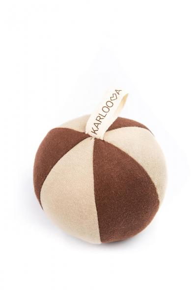 Karloova Ball with Rattle-Beige