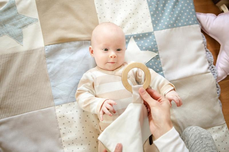 Karloova Baby Toy with Ring-Beige