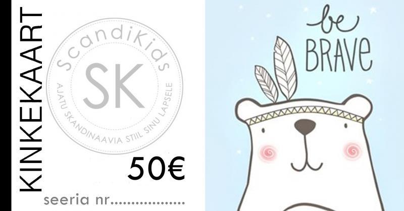 Kinkekaart 50 - Scandikids