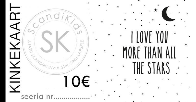 Kinkekaart 10 - Scandikids