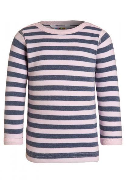 Joha puuvillane blouse w/long sleeves roosa/sinisega