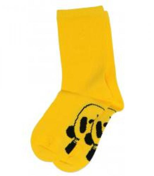Mini Rodini Panda Baby Sock Yellow