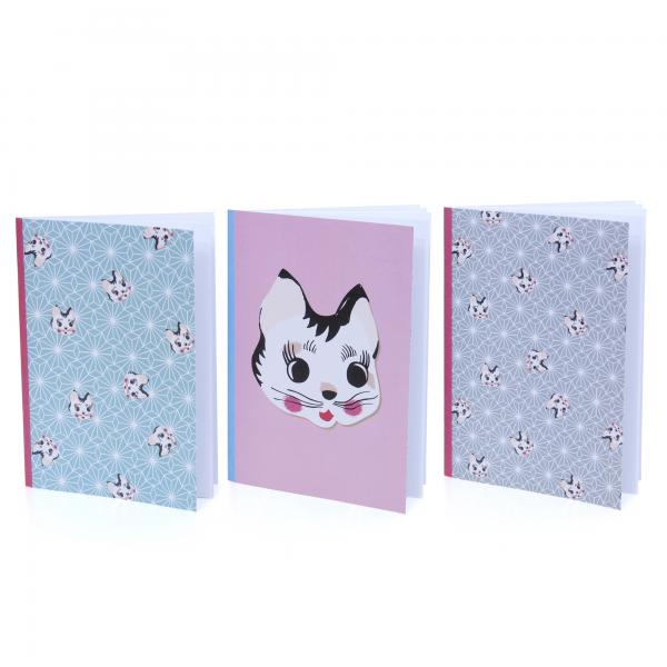 Lapin & Me Kitty Pocket Note Book Blue