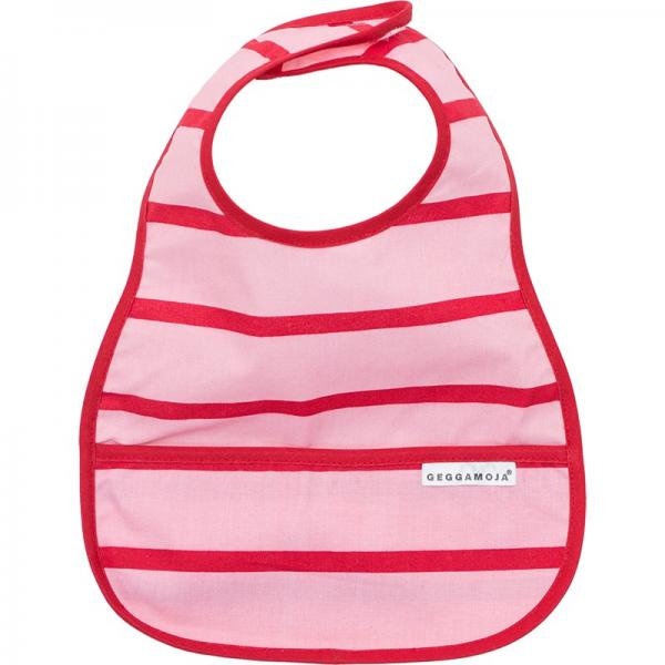 Geggamoja Bib Pink/Red One Size