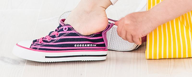 Geggamoja Striped Sneaker Marineblue