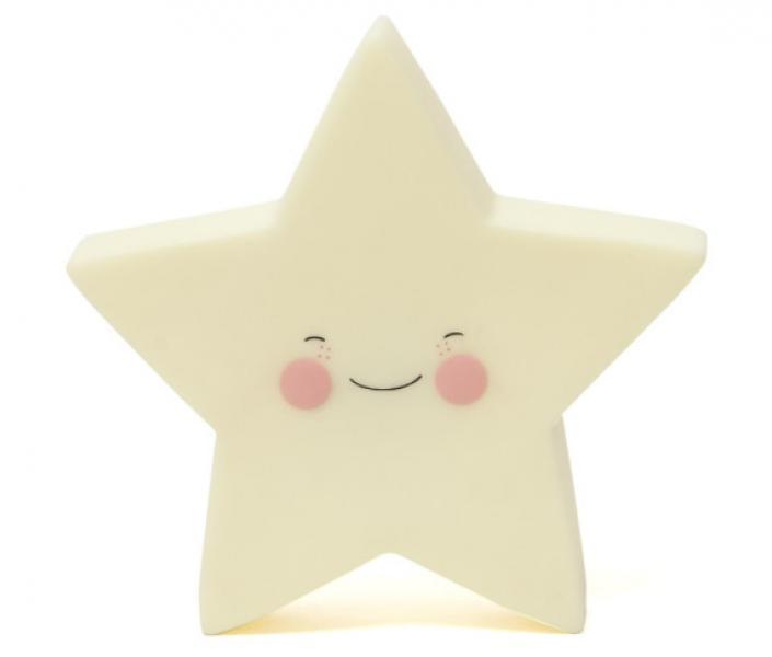 EEF Lillemor Nightlight Star Yellow
