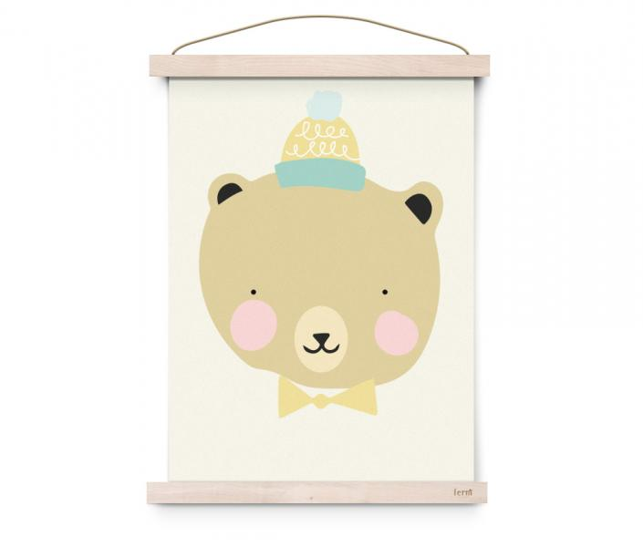 EEF Lillemor Poster Lovely Animals Frisky Grizzly