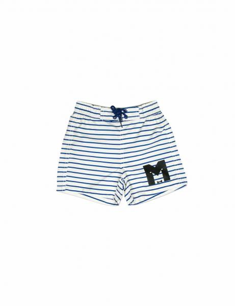 Mini Rodini Stripe AOP Swimshorts BLUE