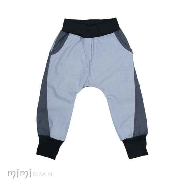 Mimi Bäggi püksid helesinine musta äärega