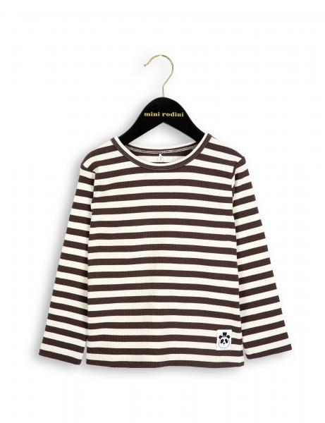 Mini Rodini Rib LS Tee Brown