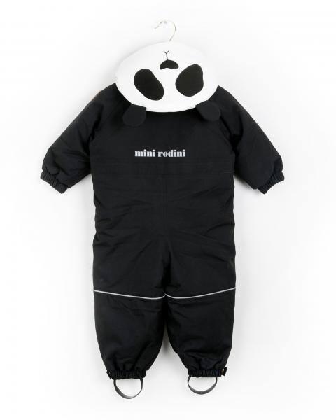 Mini Rodini  Alaska Panda Overall Black