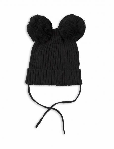 Mini Rodini EAR HAT BLACK