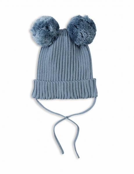 Mini Rodini EAR HAT LT BLUE