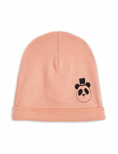 Mini Rodini Panda SP Wool Beanie Coral