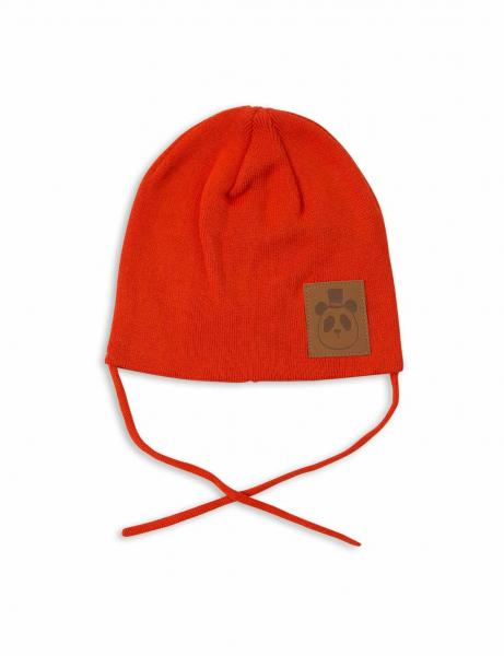 Mini Rodini Panda Hat Red