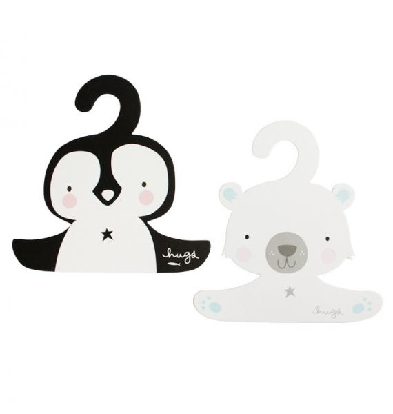 ALLC Coat hanger set: Penguin & polar bear