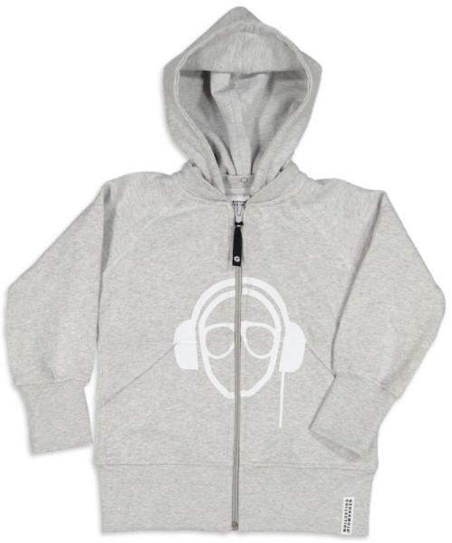 Geggamoja Headphone Hoodie Light grey mel