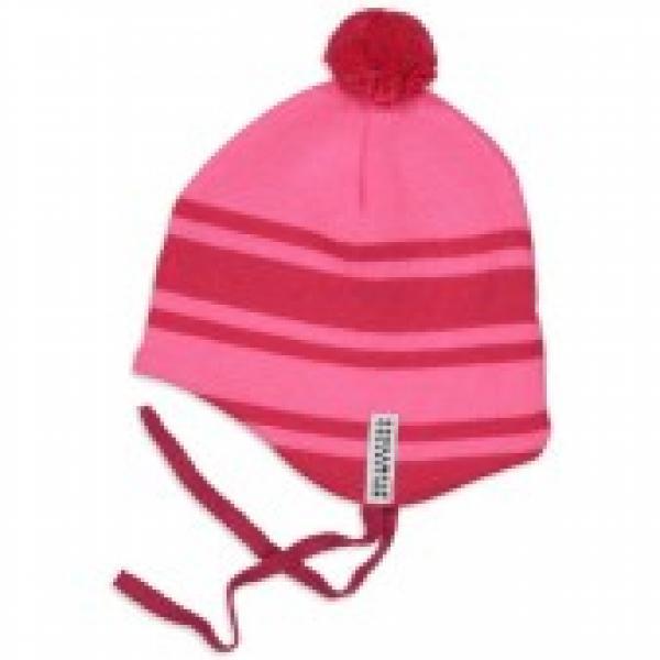 Geggamoja Knitted Baby Helmet Hat Rasberry 27