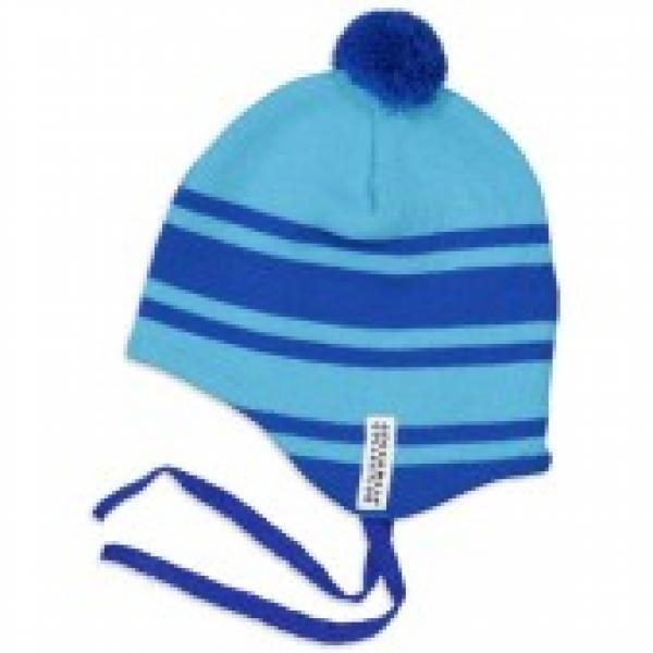 Geggamoja Knitted Baby Helmet Hat Turquoise 70