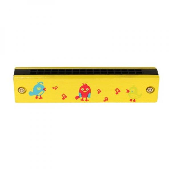 Wooden Harmonica Yellow