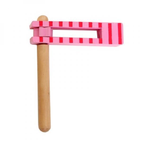 Wooden Noisemaker Pink