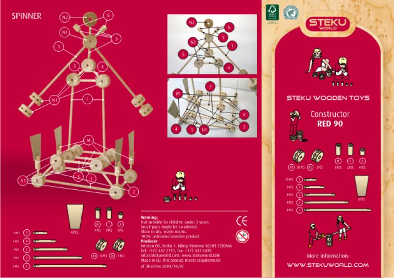 Puitkonstruktor Steku Red 90