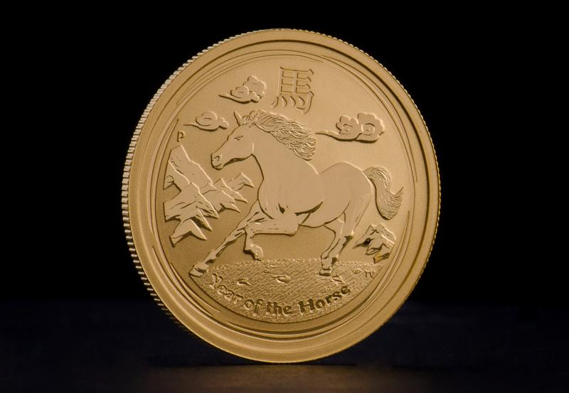 2014 1 oz Australian Gold Lunar Year of the Horse