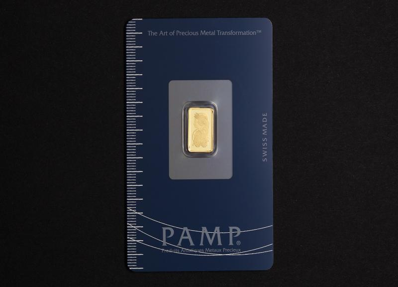 1 g Investment Gold Bar PAMP Fortuna