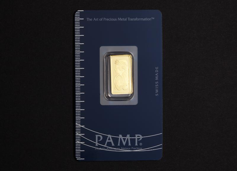 2.5 g Guldbarre PAMP Fortuna