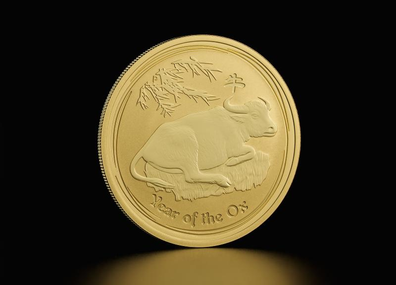2009 1/20 oz Australian Gold Lunar Year of the Ox