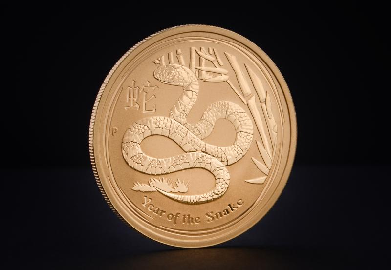 2013 1 oz Australian Gold Lunar Year of the Snake
