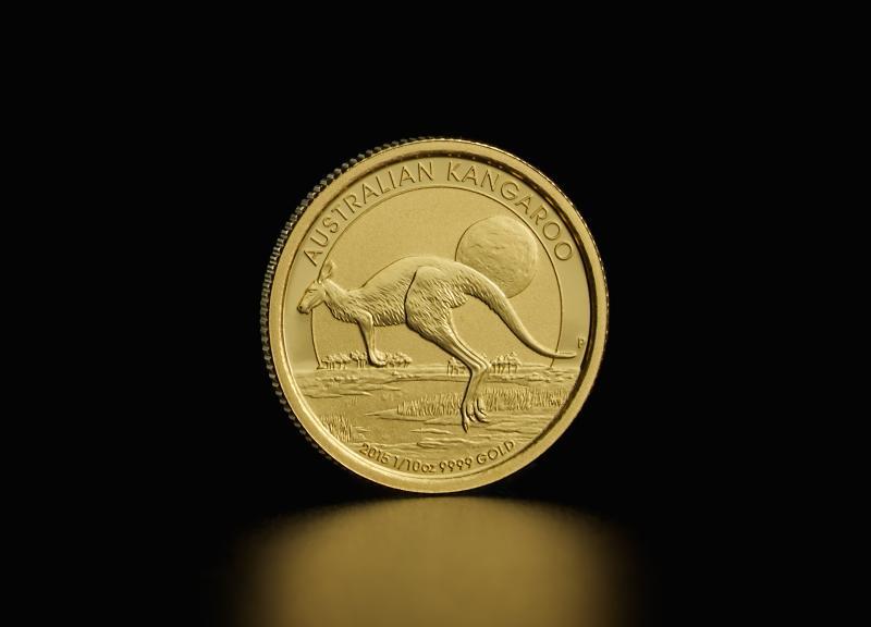 1/10 oz Australske Nugget/Kangaroo