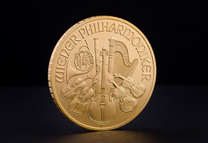 1 oz Østrigsk Wiener Philharmoniker Guldmønt