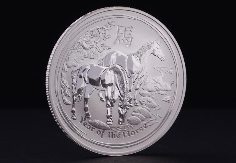 2014 1 kg Australske Lunar Hestens År Sølvmønt