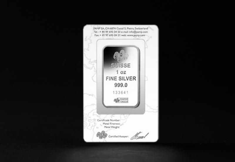 1 oz PAMP Lunar Series Silver bar
