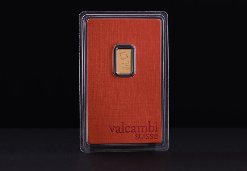 1 g Valcambi Minted Gold Bars