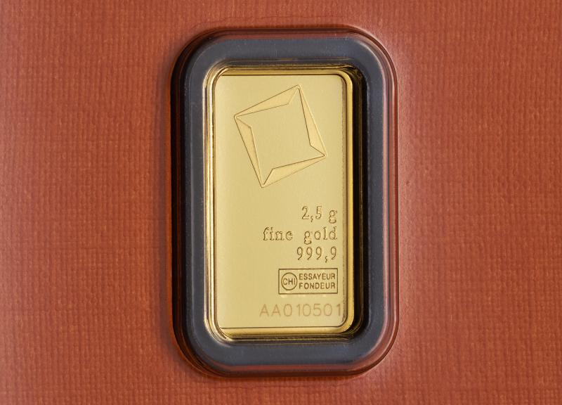 2.5 g Valcambi Minted Gold Bars