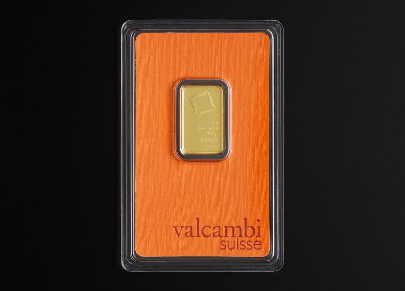 5 g Valcambi Minted Gold Bars
