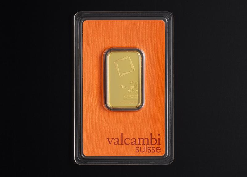 20 g Valcambi Minted Gold Bars
