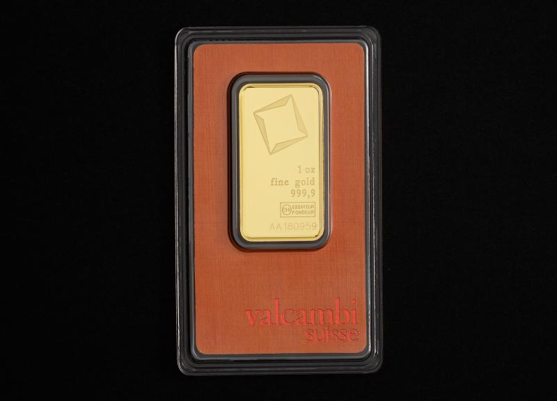 1 oz Valcambi Suisse guldbarrer