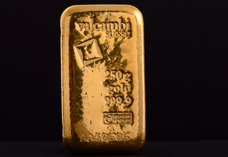 250 g Valcambi Minted Gold Bars
