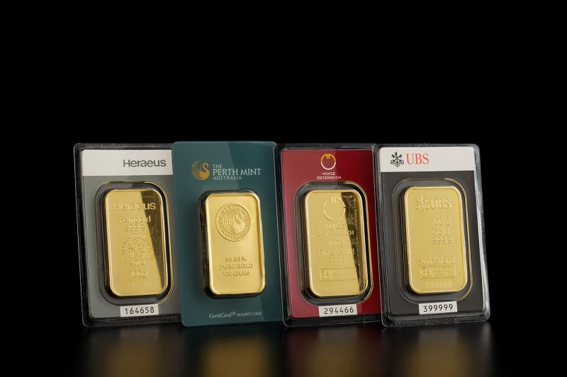 100 gram Gold Bars Mixed Brands