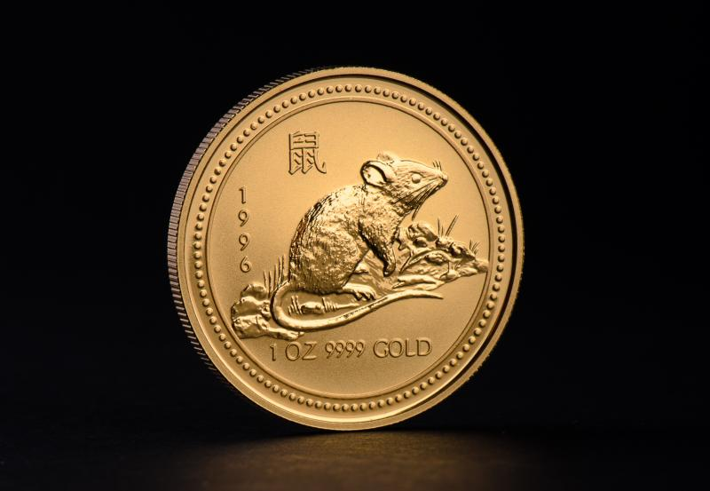 1996 1 oz Australian Gold Lunar Year of the Mouse