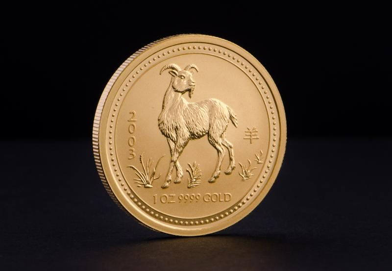 2003 1/10 oz Australian Gold Lunar Year of the Goat