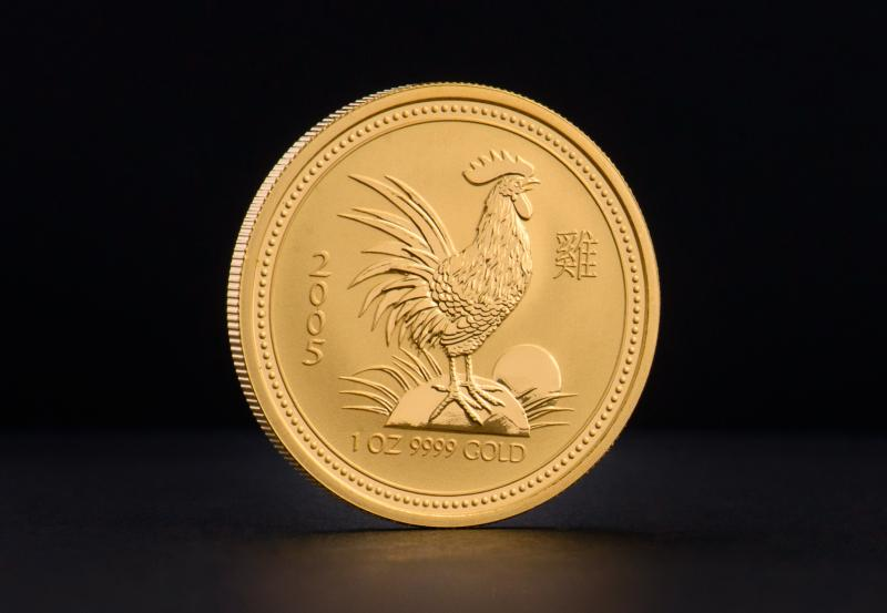 2005 1/2 oz Australian Gold Lunar Year of the Rooster