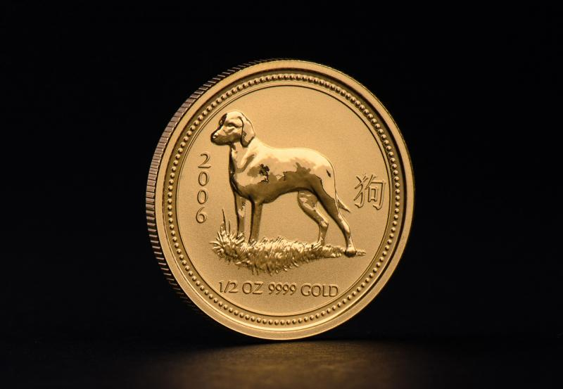 2006 1/2 oz Australian Gold Lunar Year of the Dog